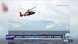 Search continues for missing man and woman