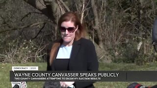Chair of Wayne County Board of Canvassers holds press conference