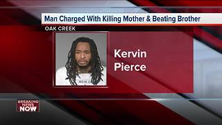 Oak Creek man charged with killing mother, injuring brother - Video