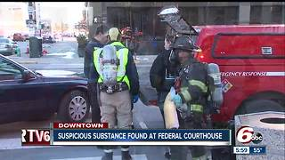 Mysterious substance found inside envelope at federal courthouse in downtown Indianapolis