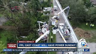FPL: East Coast will have power on Sunday - Video