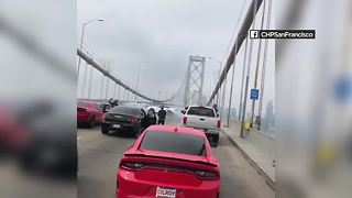 Drivers block traffic on San Francisco Bay Bridge