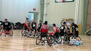 Veterans Weekend wheelchair basketball tournament - Video