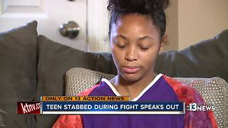 School-stabbing victim speaks out - Video