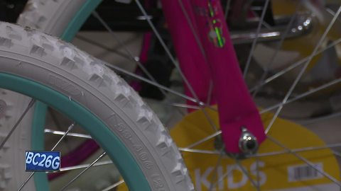 Trucking company holds bike drive for children in need