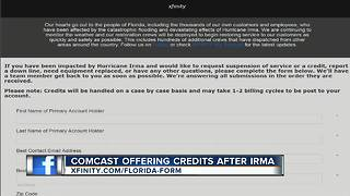 Comcast offers credits after Irma - Video