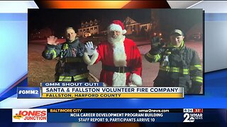Good morning from Santa & Fallston Volunteer Fire Company!