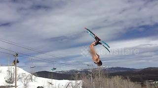 Amazing skiing and snowboarding fails compilation - Video