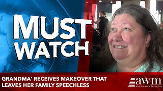 Stressed-Out Grandma's Ready For A Change, Receives Makeover That Leaves Her Family Speechless - Video