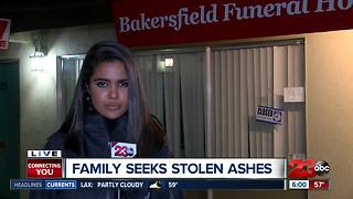 Bakersfield family still searching for stolen son's ashes - Video
