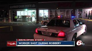 Pawn shop employee shot during attempted robbery in Indianapolis - Video