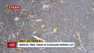 Cleveland Family Dollar collects piles of garbage with needles, other hazards - Video