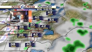 Rain arrives tonight and stays thru Monday
