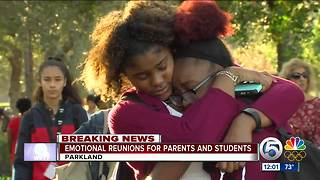Emotional reunions for parents and students - Video