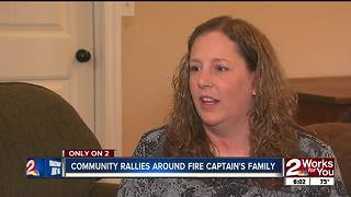 Community mourns fallen firefighter - Video