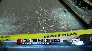 Stolen items found on Foundrop website - Video