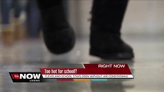 Cleveland teacher says students are too hot without air conditioning - Video