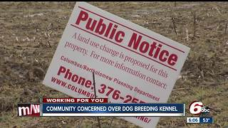 People in Bartholomew County upset about proposed dog breeding kennel - Video