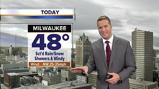 Milwaukee weather forecast: Very windy, with lingering rain and show showers