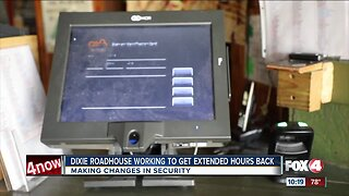 Dixie Roadhouse adds new security in hopes to get extended hours back