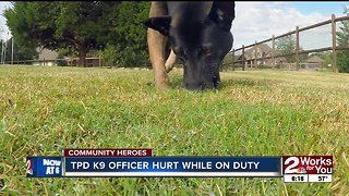 Community Heroes: TPD K9 officer hurt while on duty