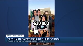 College student raises money to build school