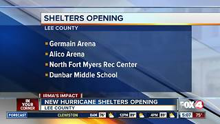 Hurricane Irma: Lee County shelters open