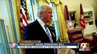President signs spending bill - Video
