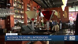 Alcohol to go bill introduced in Arizona