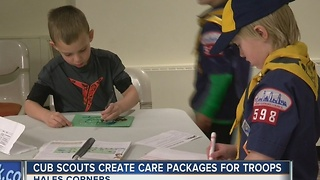 Cub Scouts Create Care Packages