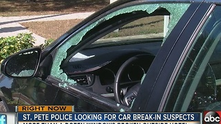 St. Pete police investigating vehicle burglary spree in hotel parking lot - Video