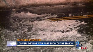 Wintry weather hits Harford County, region early - Video
