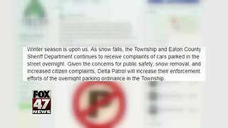 Ordinance: no parking during early hours