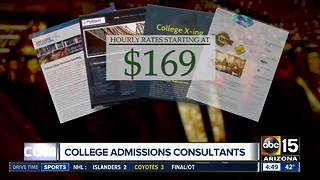 Pros helping students navigate college admission - Video