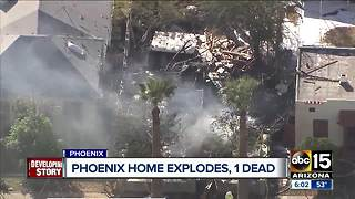 Gas explosion at Phoenix he kills 1, injures 1 - Video