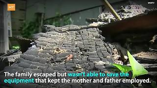 Girl with disability saves family from fire | Hot Topics - Video