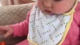 Funny Baby Accidentally Headbutts iPad - Video
