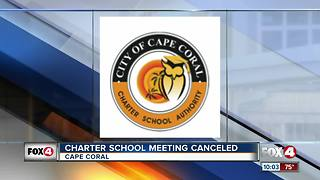 Charter School Meeting Canceled - Video