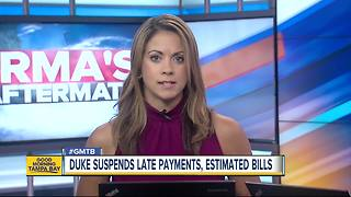Duke Energy suspends late payment charges, estimated bills, disconnections during Irma recovery - Video