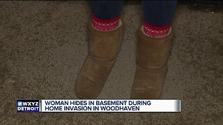 Woman hides in basement during home invasion in Woodhaven