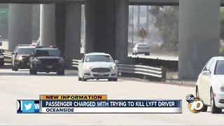 Passenger charged with trying to kill Lyft driver