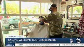 Hair salons open for indoor operations in San Diego County