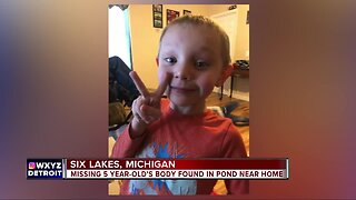 Missing 5-year-old's body found in pond near home