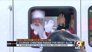 Brody Allen, 2-year-old with brain cancer, gets a Christmas parade