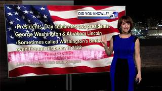 Presidents' Day fun facts from Rachel - Video