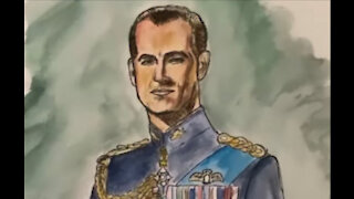 Liam Payne creates watercolour art piece in memory of the late Prince Philip