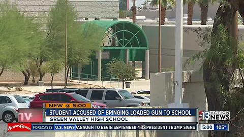 CCSD Police: Teen charged after bringing gun to high school