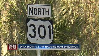 Data shows U.S. 301 becoming more dangerous - Video