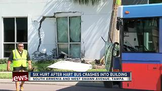 City bus crashes into building in Tampa - Video
