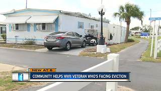 WWII Veteran facing eviction gets new home - Video